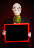 Person in a gas mask Stock Photo