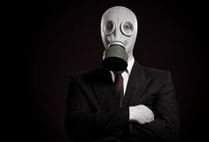 Person in a gas mask Stock Images