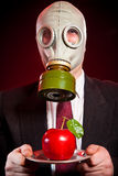 Person in a gas mask Stock Photos