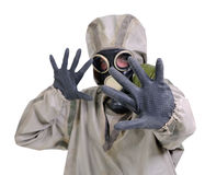 The person in gas mask Royalty Free Stock Photo
