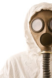 Person in gas mask Royalty Free Stock Image