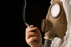Person in gas mask Stock Photography