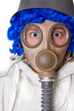 Person in gas mask Stock Photo
