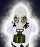 Person with gas mask Royalty Free Stock Photos