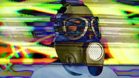 Person with gas mask war technology Stock Image