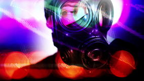 Person with gas mask war technology Stock Photography