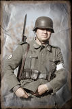Person in German WW2 military uniform. Royalty Free Stock Photos