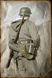 Person in German WW2 military uniform. Royalty Free Stock Photography