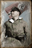 Person in German WW2 military uniform. Royalty Free Stock Photo