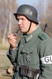 Person in German WW2 military uniform. Stock Image