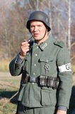 Person in German WW2 military uniform. Royalty Free Stock Image