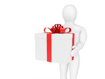 The person with a gift Stock Image