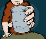 Person Giving een Drank royalty-vrije illustratie