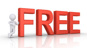 Person giving for free Royalty Free Stock Photos