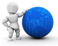 Person with globe Stock Photos