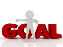 Person with goal Stock Image