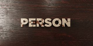 Person - grungy wooden headline on Maple  - 3D rendered royalty free stock image Royalty Free Stock Photography