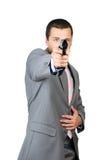 Person with a gun Stock Photo