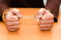 Person in handcuffs. Stock Images