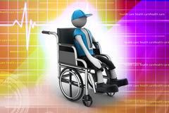 Person handicapped in a wheelchair Royalty Free Stock Photo