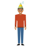 Person with hat party icon Stock Images