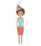Person with hat party icon Stock Photos