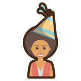Person with hat party icon Royalty Free Stock Image