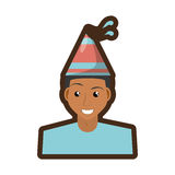Person with hat party icon Stock Photography