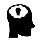 Person head brain think silhouette Stock Photography