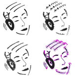 Person with headphones Royalty Free Stock Photo