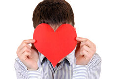 Person with Heart Shape Royalty Free Stock Image