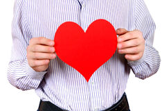 Person with Heart Shape Royalty Free Stock Photography