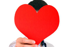 Person with Heart Shape Royalty Free Stock Images
