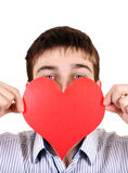 Person with Heart Shape Royalty Free Stock Photo