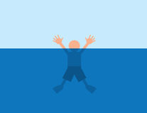 Drowning Water Stock Images
