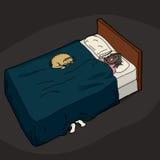 Person Hiding Under Bed Fotografia Stock