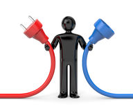 Person hold cables Stock Images