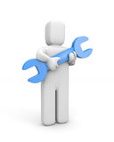 Person hold spanner Royalty Free Stock Photography
