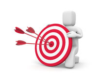 Person hold target Stock Photos