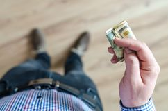 Person Holding Banknote Royalty Free Stock Photography