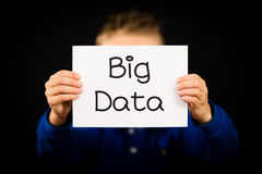 Person holding Big Data sign Stock Photo