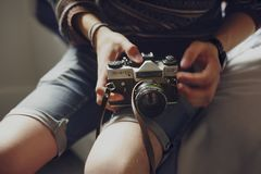 Person Holding Black and Gray Dslr Camera Royalty Free Stock Images