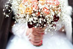 Person Holding Bouquet of Flower Royalty Free Stock Photo