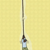 Person Holding Broken Rope Image stock