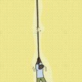 Person Holding Broken Rope ilustración del vector
