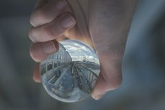 Person Holding Clear Glass Decor Royalty Free Stock Photo