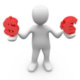 Person Holding Currencies royalty free stock photos