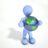 Person Holding Earth Imagenes de archivo