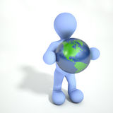 Person Holding Earth Stock Images