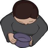 Person Holding Empty Bowl stock de ilustración